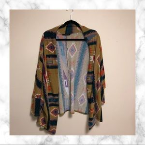 Fashion to Figure Aztec Printed Cardigan